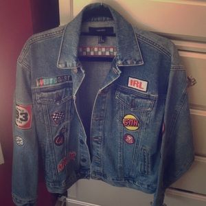 Forever 21 Patch Jean Jacket